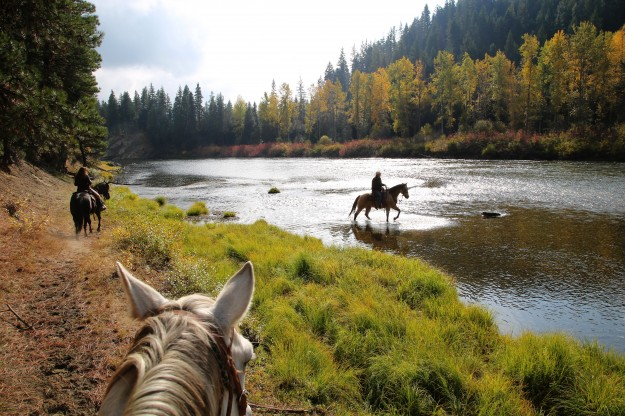 Fall Ride on Wenatchee River by Noelle Morris