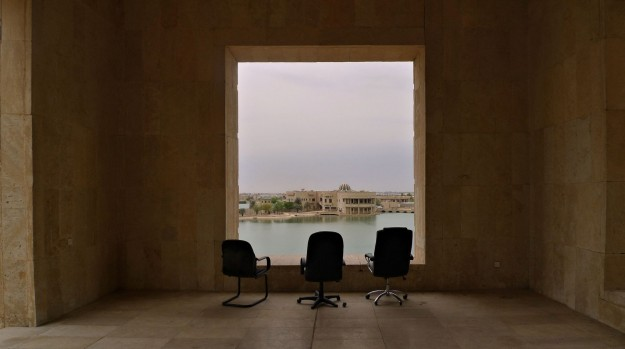 View from a veranda in Saddam's AlFaw Palace by Steve Johnson