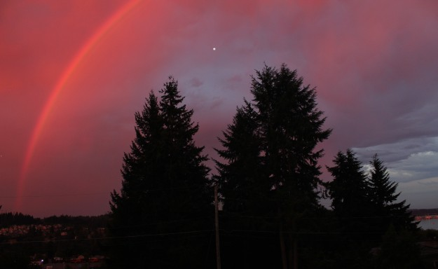 Red Sky Rainbow by Tom Wenning