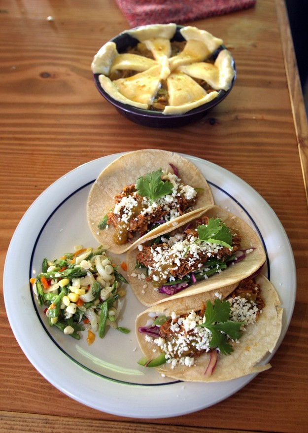 Fresh made tacos at the Mossback Restaurant in Kingston. LARRY STEAGALL / KITSAP SUN