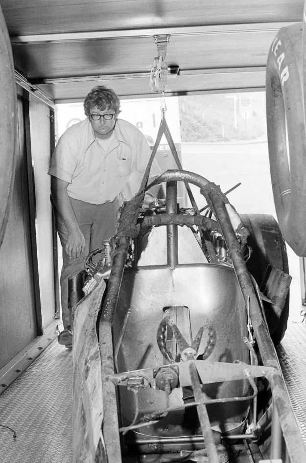 07/24/73 Wreckage of Herm Petersens Dragster