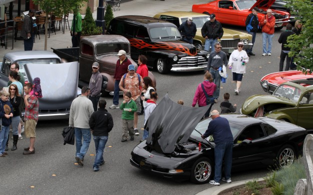 The Bremerton Harbor Festival classic auto show filled nearly three blocks on Pacific Avenue with vintage cars.
