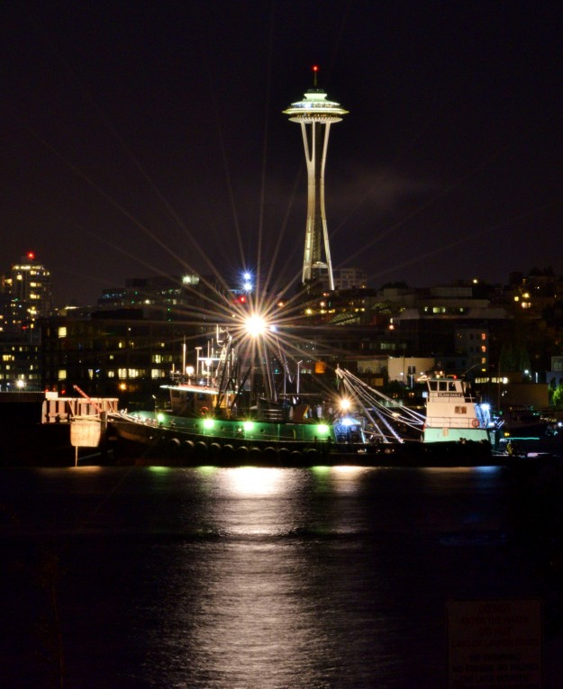 Space Needle at Night by Cynthia Leota