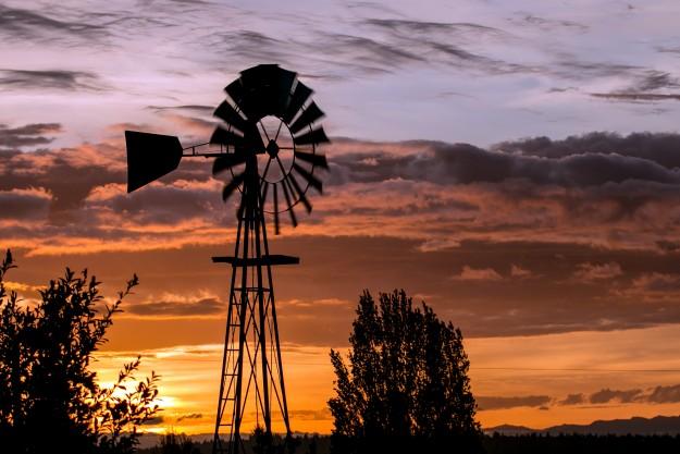 Southworth Windmill at Sunrise by E. Faithe Lester