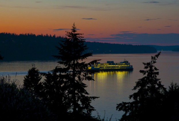 Sunset Ferry by Conny Johannesson