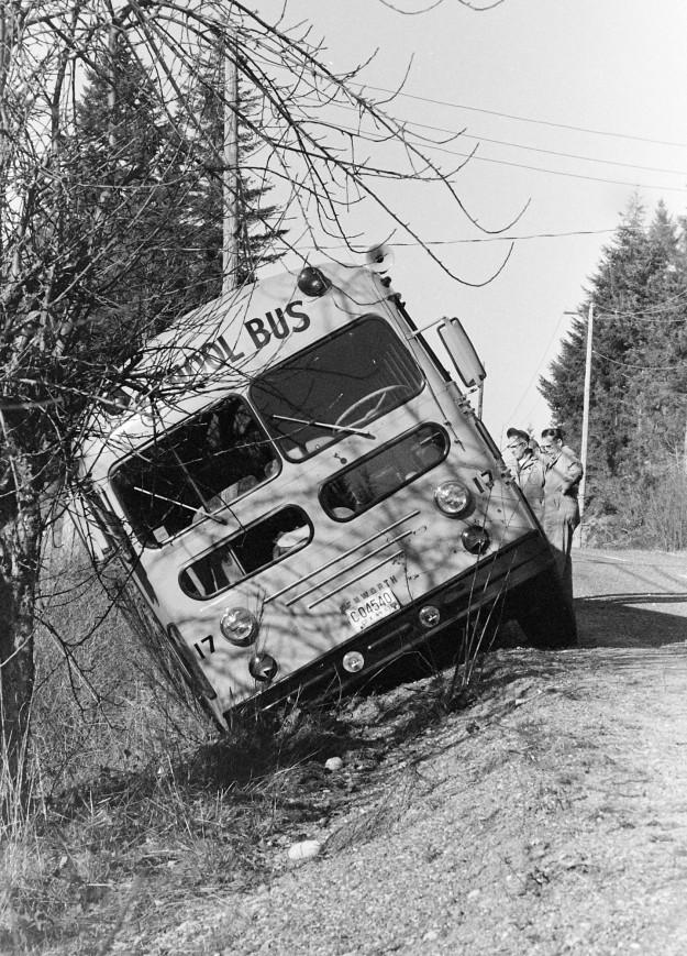 02/15/68 School Bus Off Road