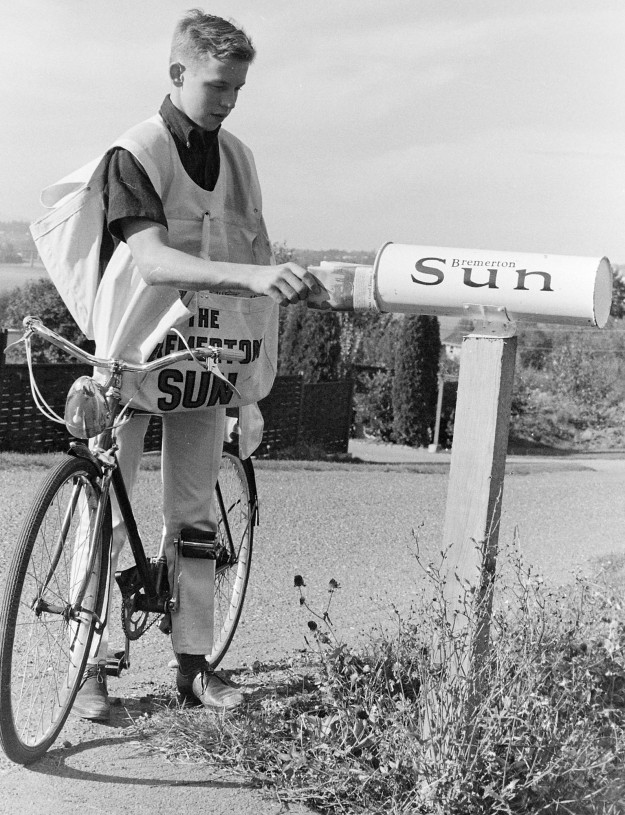 10/03/66 Paperboy of the year Larry Julian