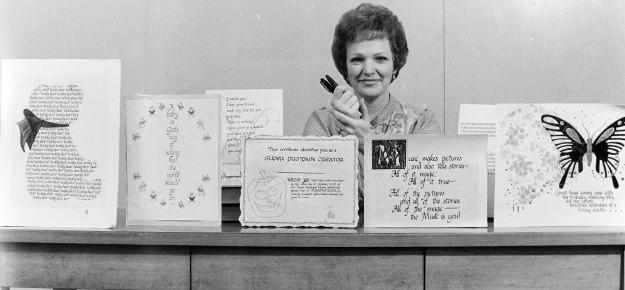 02/14/80 Dorothy Grahn Calligraphy Cliff McNair Jr. / Bremerton Sun