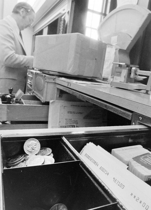 02/14/80 Susan At The Post Office Cliff McNair Jr. / Bremerton Sun
