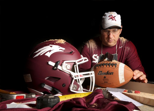 New South Kitsap High School football coach Gavin Kralik is trying to rebuild a contender. LARRY STEAGALL / KITSAP SUN
