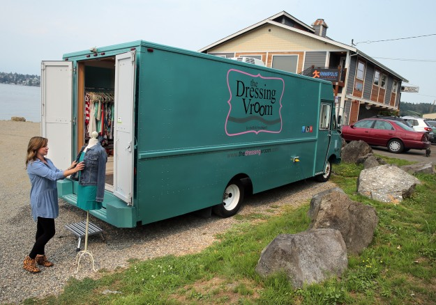 Leslie Gaschler operates a mobile clothing boutique out of a truck in Port Orchard. Her business is called the Dressing Vroom. LARRY STEAGALL / KITSAP SUN