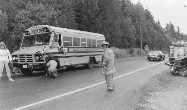 09/13/88 Car Bus Accident Steve Zugschwerdt / Bremerton Sun