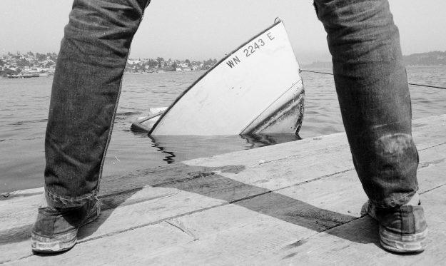 07/26/68 Boat Sinks On Bremerton Waterfron