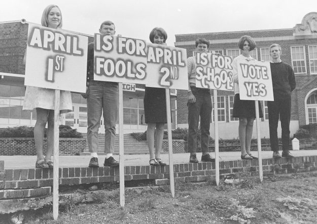 03/29/68 SK High School Levy Signs