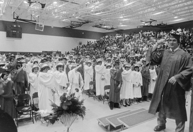 6/14/83 Olympic Graduation Steve Zugschwerdt / Bremerton Sun