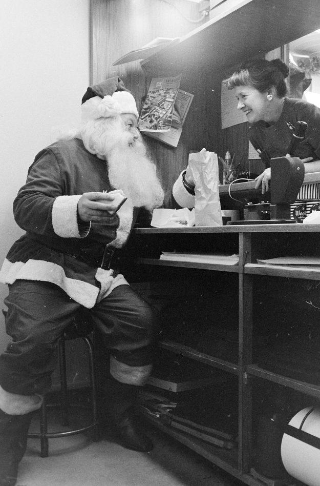 12/21/61 Santa At Lunch