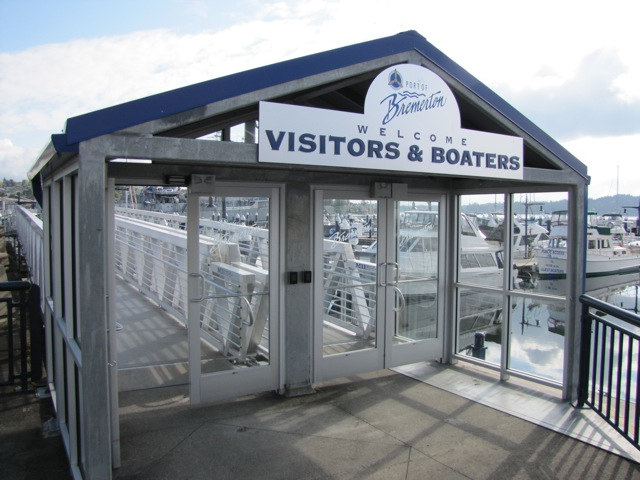 Public entrance to the Bremerton Marina. Photo: Jeff Adams
