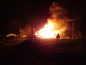Olalla Valey Barn Fire