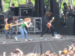 Paramore on the main stage at Bumbershoot.