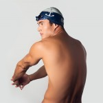 Nathan Adrian wearing his limited-edition Art of the Cap, with a special nod to his Bremerton roots.