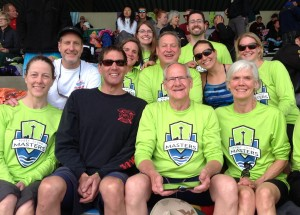 Members of the Bainbridge Aquatics Masters who competed with the Puget Sound Masters regional team at the U.S. Masters spring national championships last week in Santa Clara, Calif.