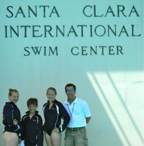 BIDC members Cammy Rouser, Henry Sauermann, Jackie Hellmers and coach Chris Miller competed at the USA Diving Summer Junior REgion 10 Championships in Santa Clara, California, earlier this month. (Contributed photo)