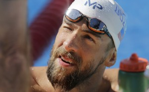 Michael Phelps practices for the U.S. Swimming Nationals at the Northside Swim Center, Wednesday, Aug. 5, 2015, in San Antonio. Phelps is scheduled to compete in four events. (AP Photo/Eric Gay)