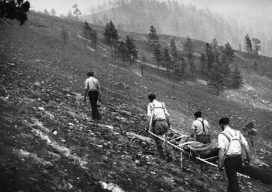 Mann Gulch Fire of 1949. U.S. Forest Service photo.