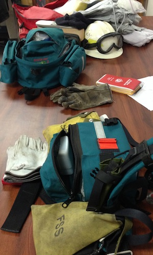 "The wildland firefighting ""personal gear"" list includes 108 items."