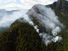 The Constance Fire of 2009. National Park Service photo.