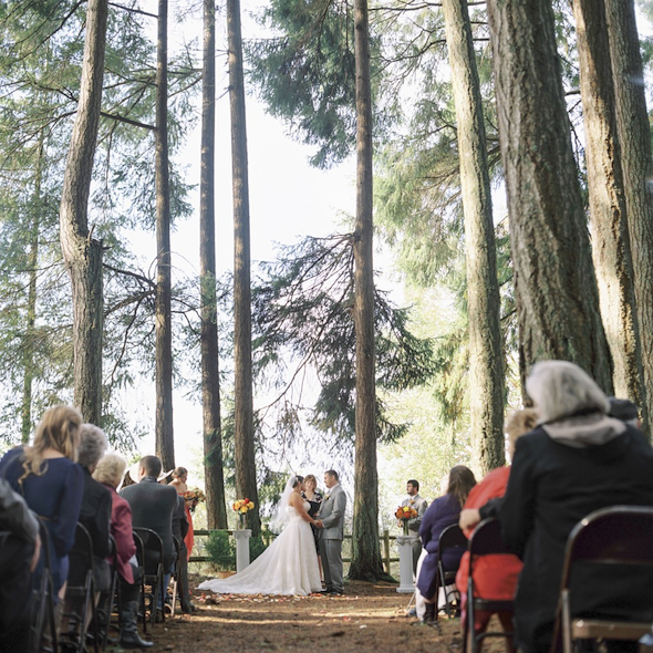 One of the many weddings held at Kitsap Memorial State Park. Courtesy of Washington State Parks
