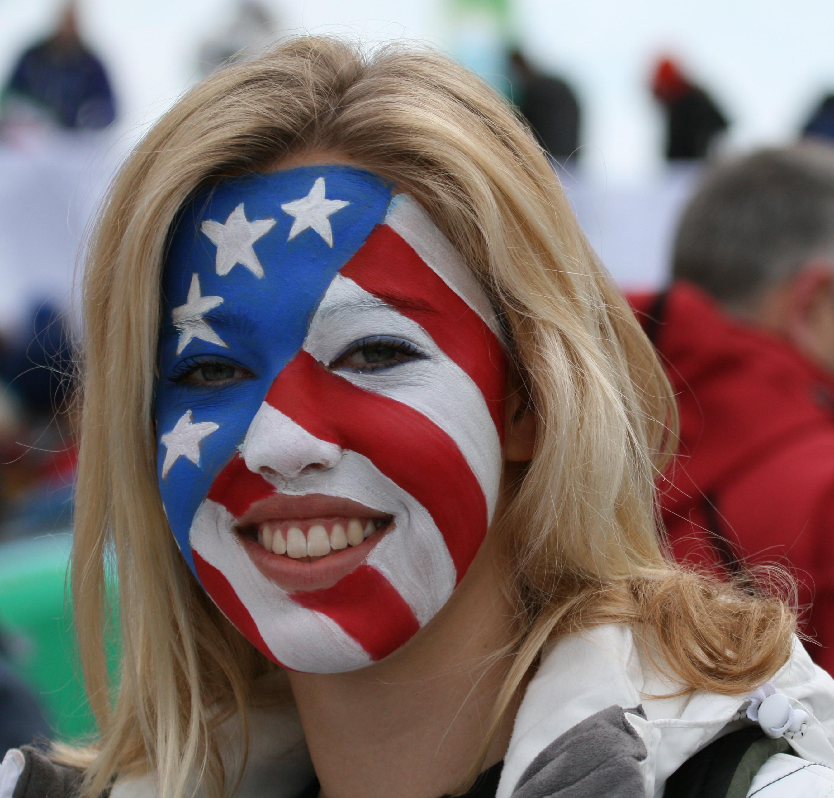 Usa flag face fuck and facial 10