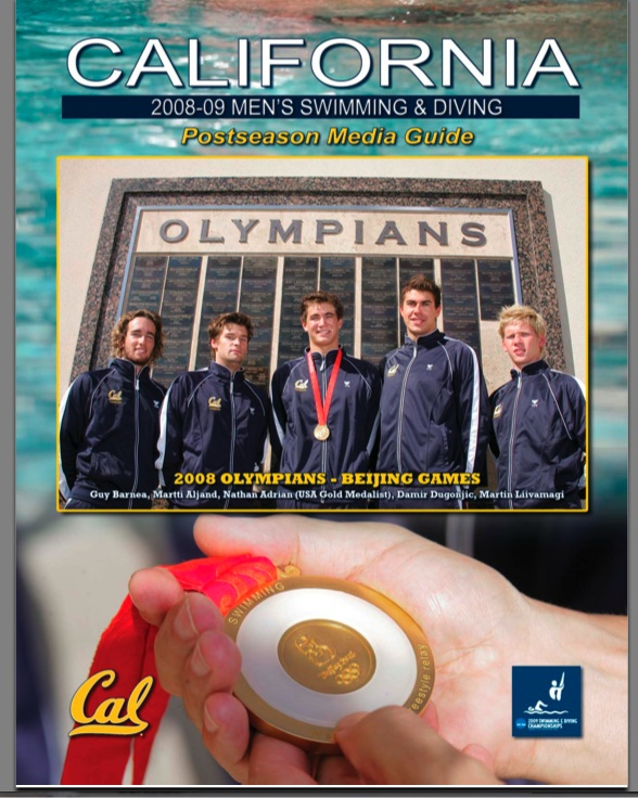 Nathan Adrian on Cal's Media cover