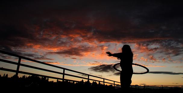 Hoop sunset