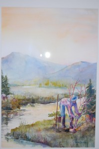 <i>Planting in the Riparian Zone by Sukey Jacobsen won first place in the Puget Sound — I Love You art contest.</i><br><small>Photo courtesy of People for Puget Sound</small>