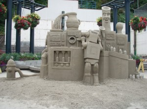 <i>One of the amusing sand sculptures at last year's Arts in Action festival in Port Angeles</i><br> <small> Photo courtesy of Nor'Western Rotary</small>