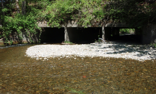 The old culvert under Golf Club Road.