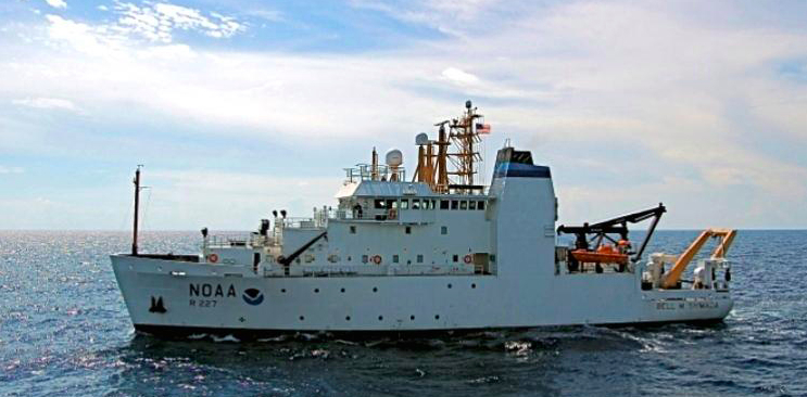 Researchers are tracking K and L pods aboard the NOAA vessel Bell M. Shimada. Click on the image and insert the ship's name to view its recent travels.