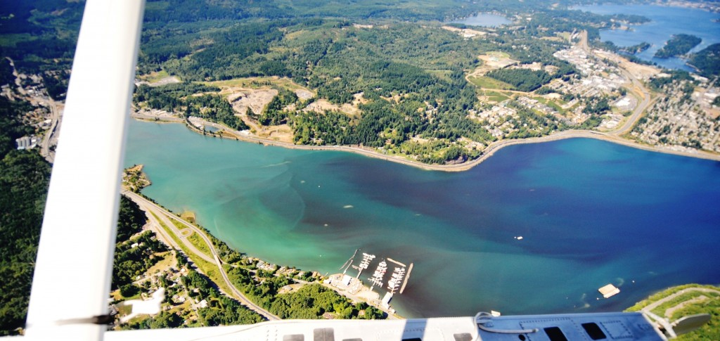 Sinclair Inlet last August was awash in colorful plankton. Photo by Christopher Krembs, Eyes Over Puget Sound