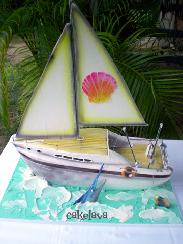 The sailboat cake