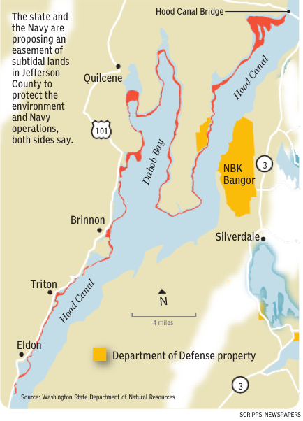 Proposed Navy easement in Jefferson County