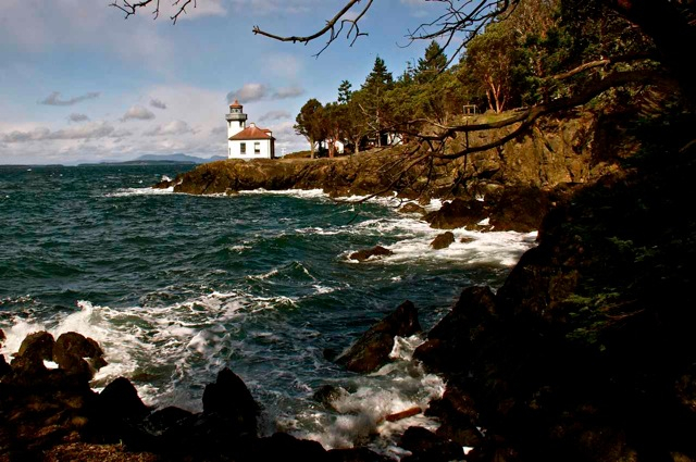 Lime Kiln Lighthouse on San Juan Island.