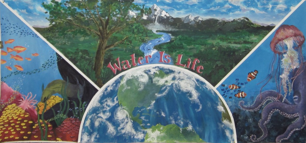 "Students from Walton High School in Marietta, Calif., created the winning mural in the ""Water is Life"" contest."