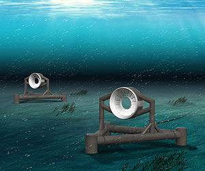 Tidal turbines for Admiralty Inlet are to be provided by OpenHydro. Graphic courtesy of OpenHydro