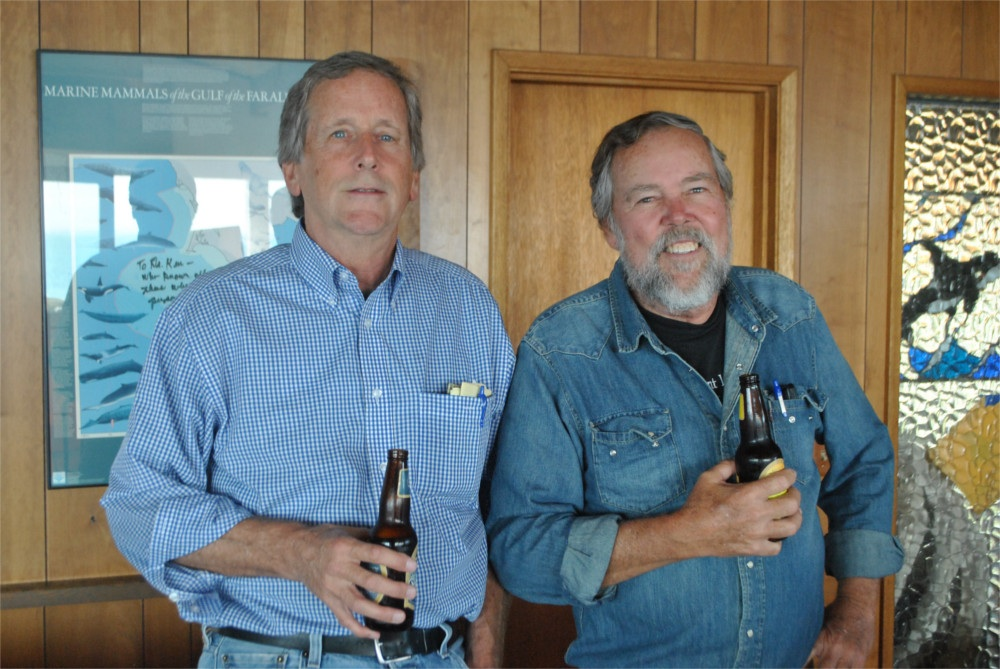 Joel Reynolds, left, and Ken Balcomb at the Center for Whale Research on San Juan Island, September 2013. Photo by Joshua Horwitz
