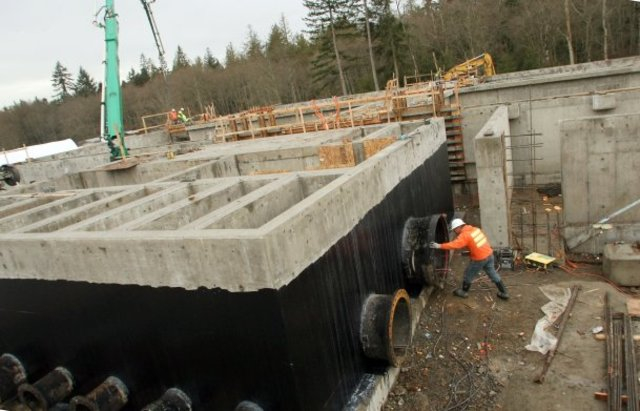 Work continues at the Central Kitsap Wastewater Treatment Plant File photo: Kitsap Sun, Feb. 4, 2014