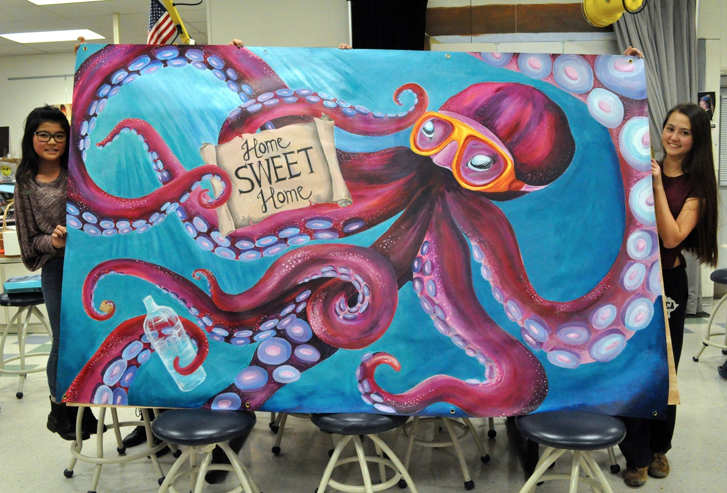The winning mural by Bergen County Academies of Hackensack, N.J.