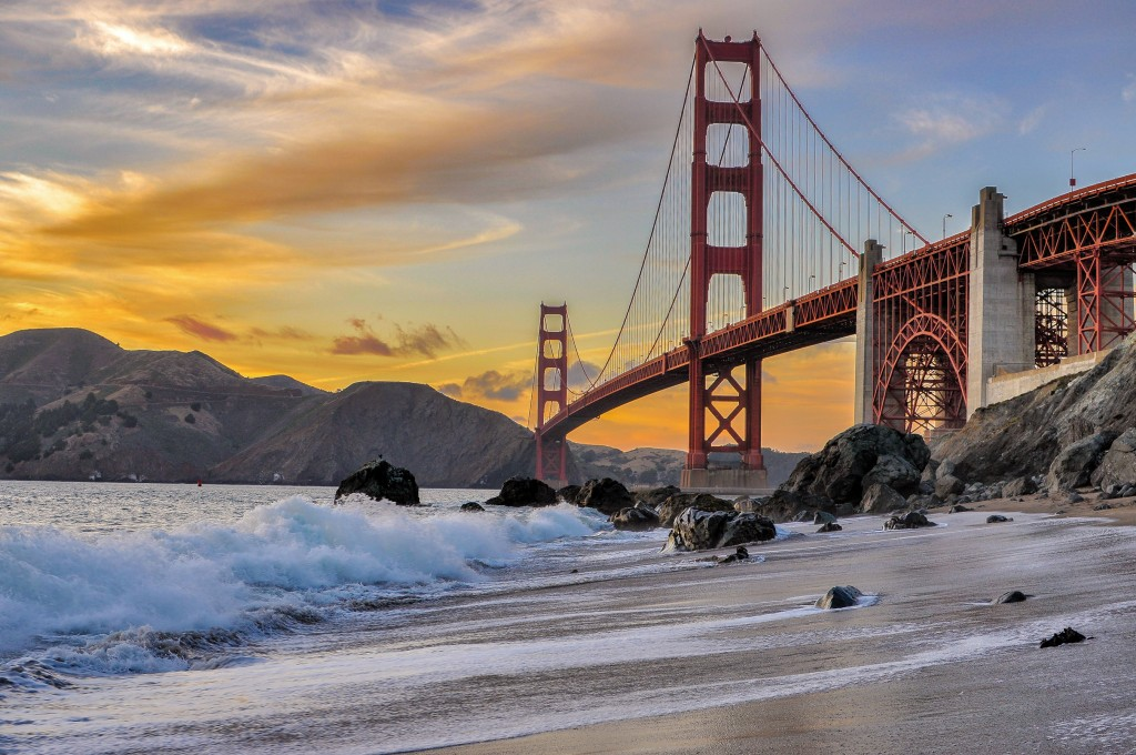 Eric DaBreo of Chico, Calif., received a second-place award in the Share the Experience photo contest with his photo of the Golden Gate Bridge in San Francisco. National Park Foundation