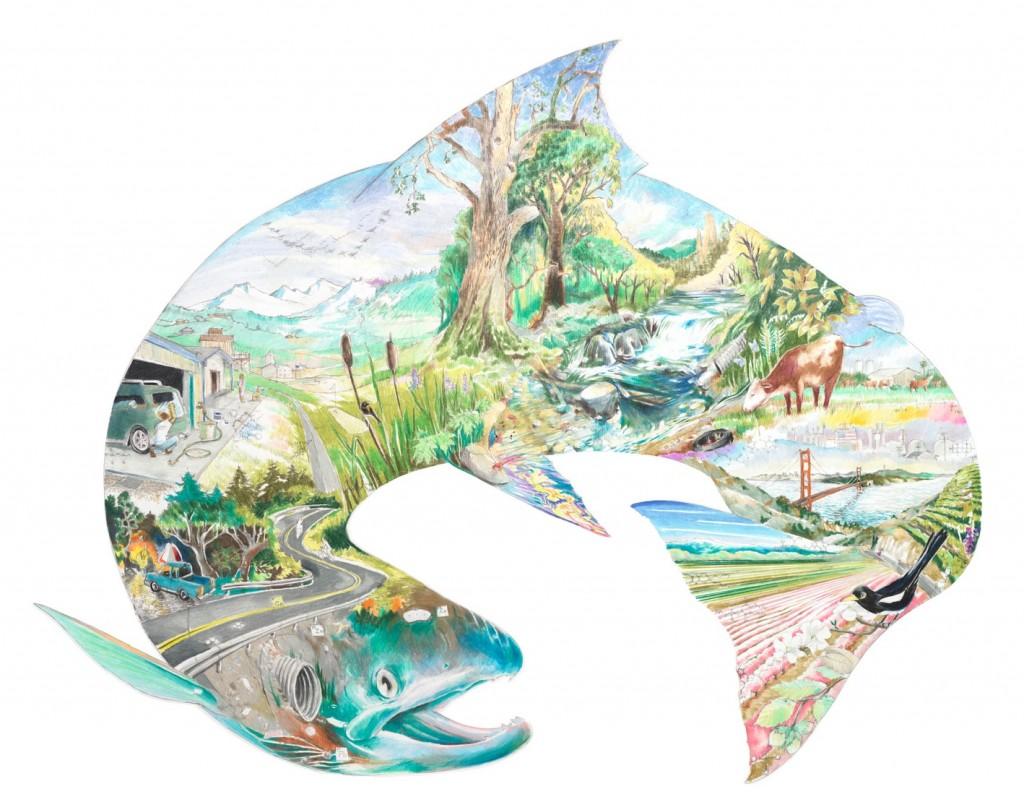 Mural by Esteban Camacho Steffensen Image: NOAA Fisheries