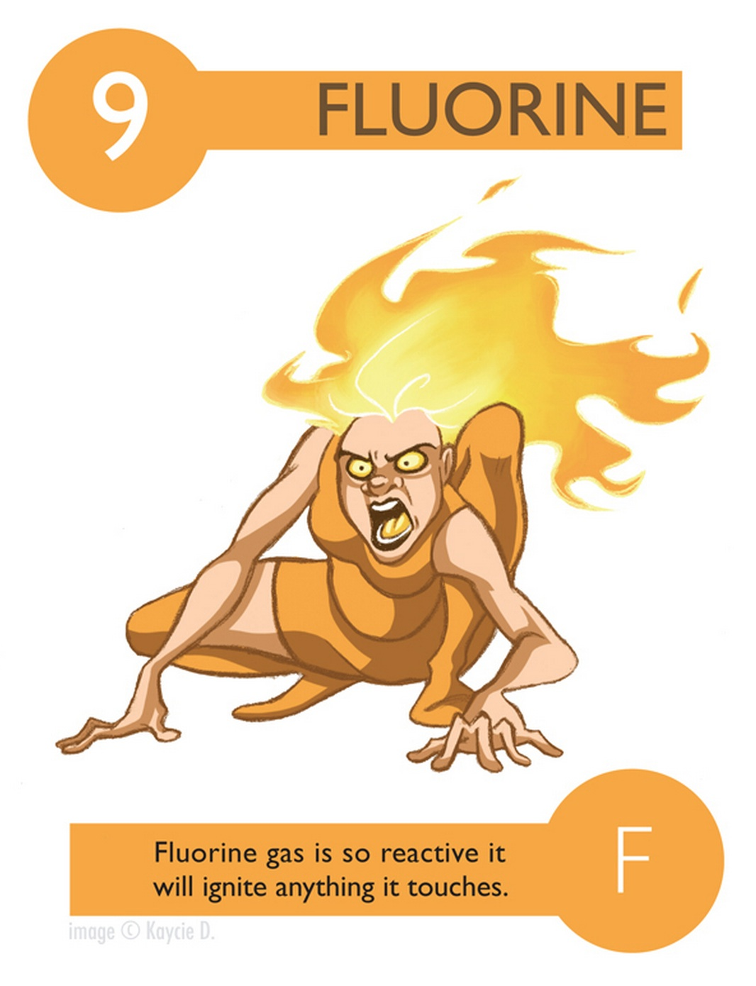 amusing monday cartoon characters tell a story about the elements